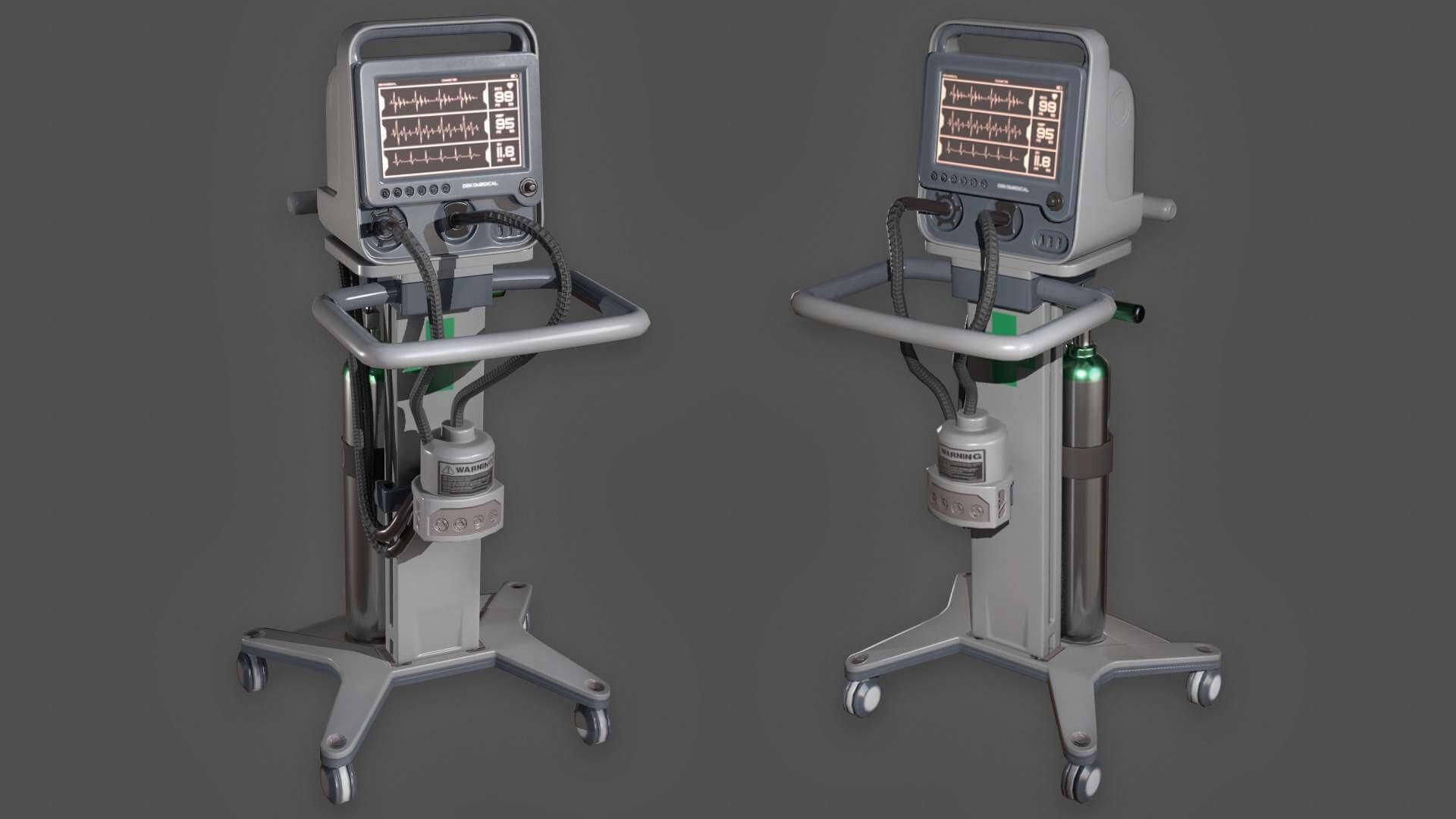 Hospital Monitor 3D Model
