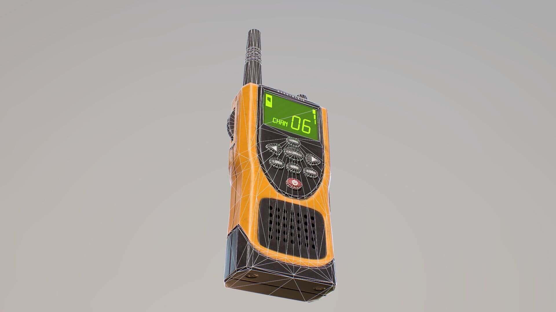 Walkie Talkie Two Way Radio 3d Model