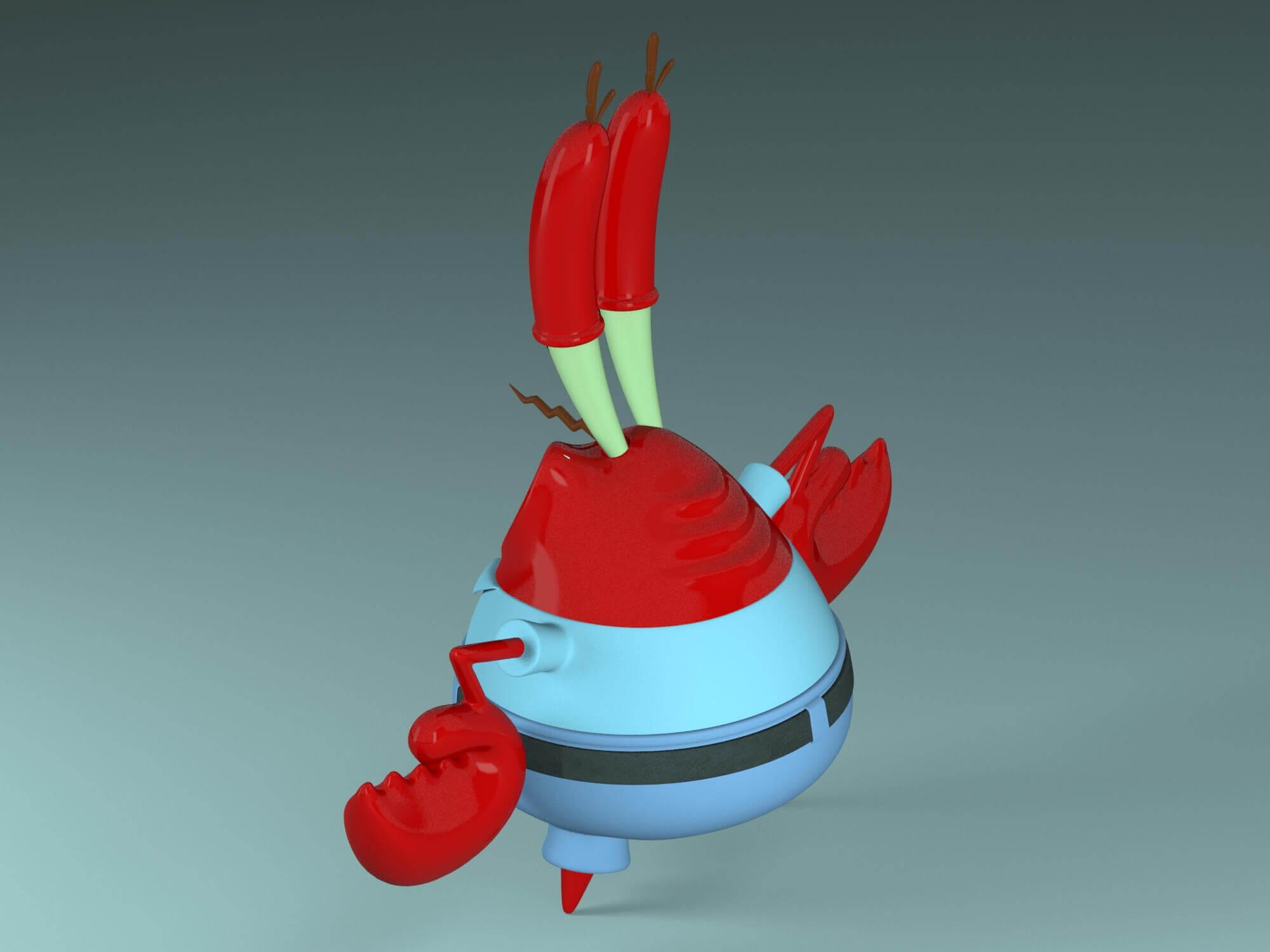 Mr Krabs 3D Model