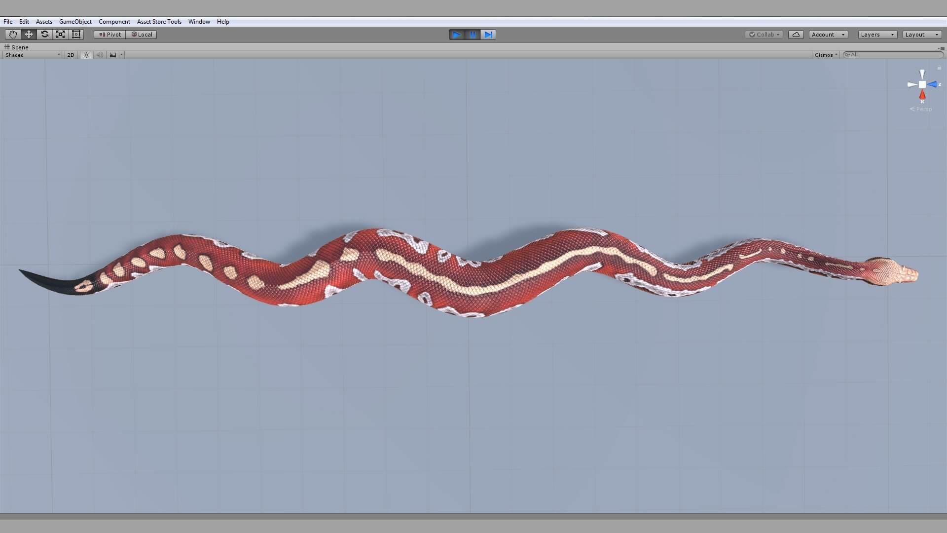 Blood Python 3D Model