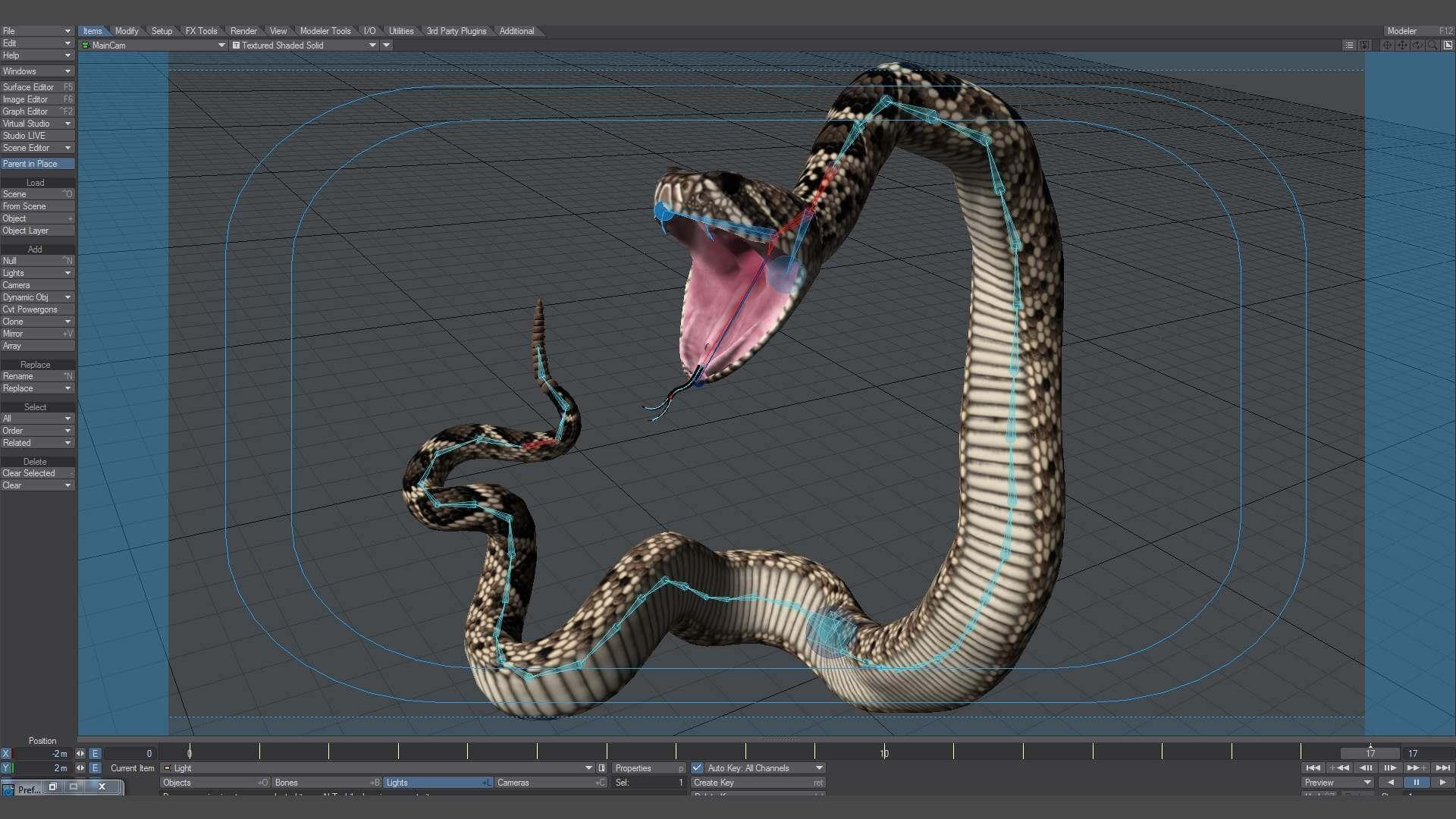 Diamondback Rattlesnake 3D Model