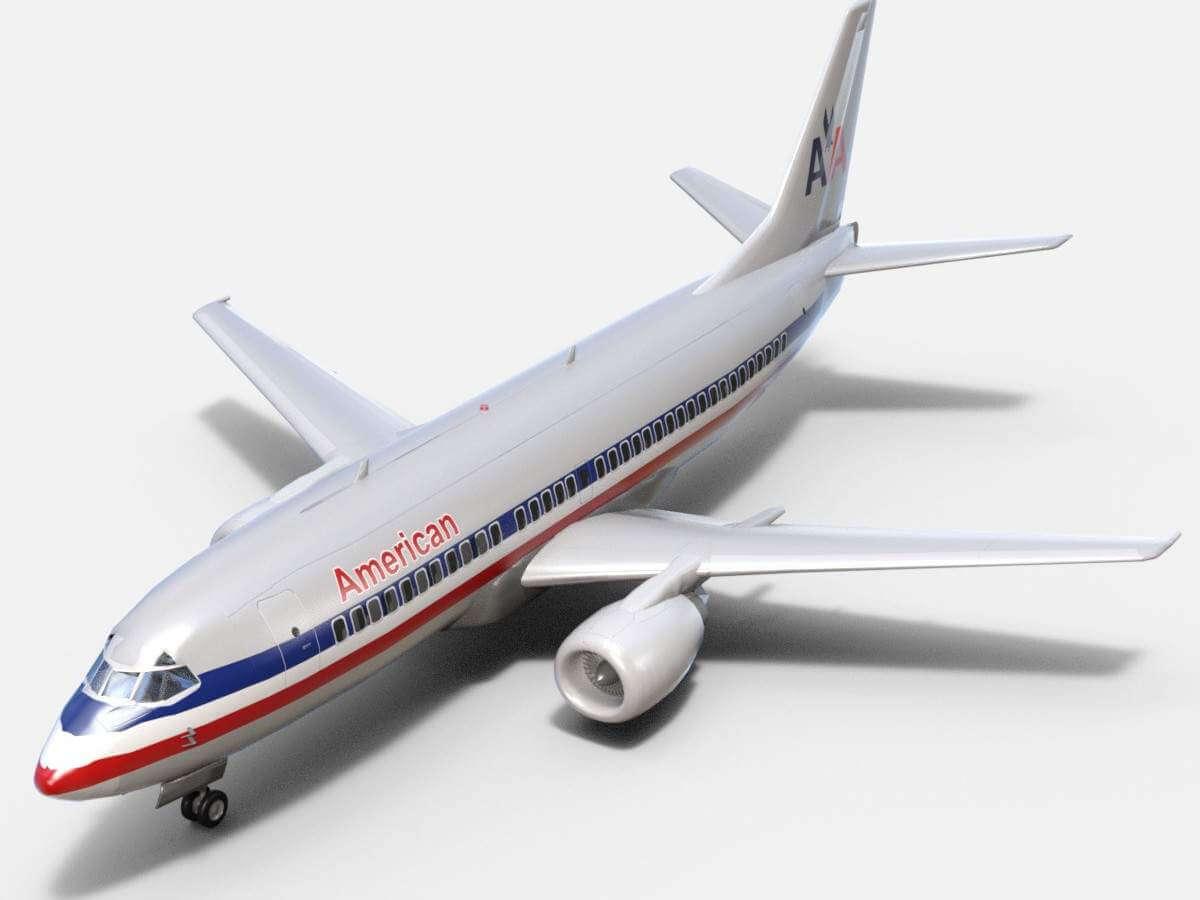Boeing 737 500 American Airlines 3d Model