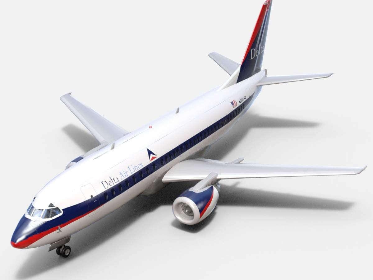 Boeing 737 500 Delta 3d Model