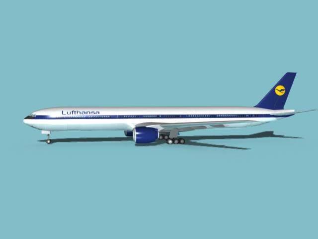 Boeing 777-300 Lufthansa 3D Model