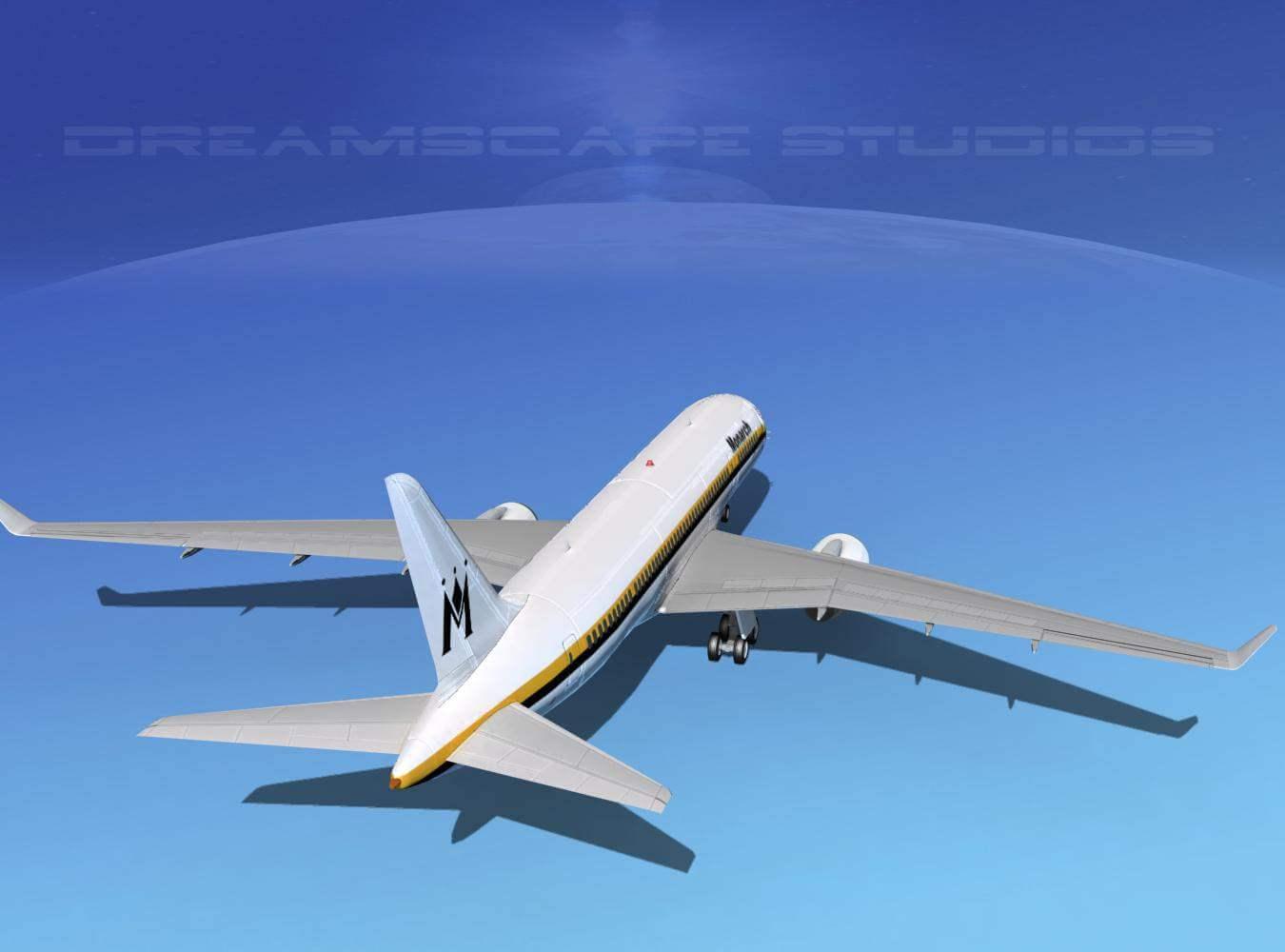 Boeing 787-8 Monarch 3D Model