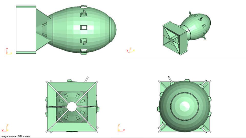 Atomic Bomb Fat Man 3d Model