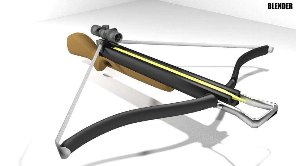 Recurve Crossbow 3D Model