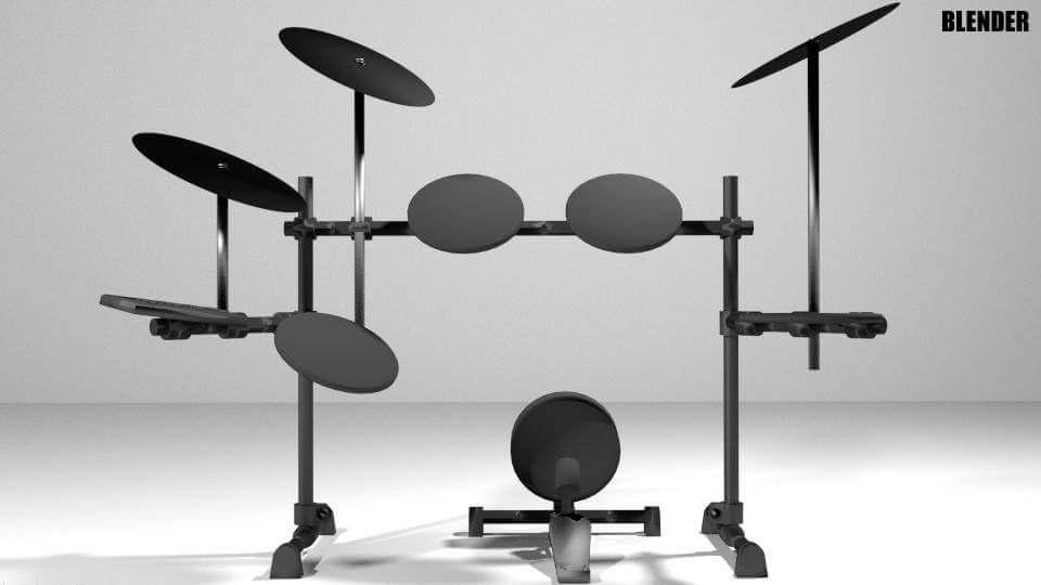 Electronic Drum Kit 3D Model