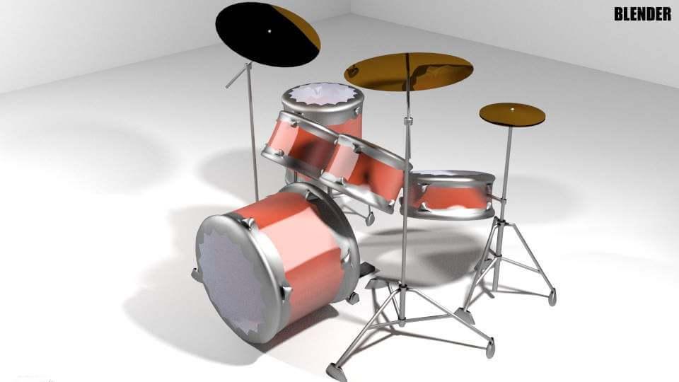 Modern Drum Kit 3D Model