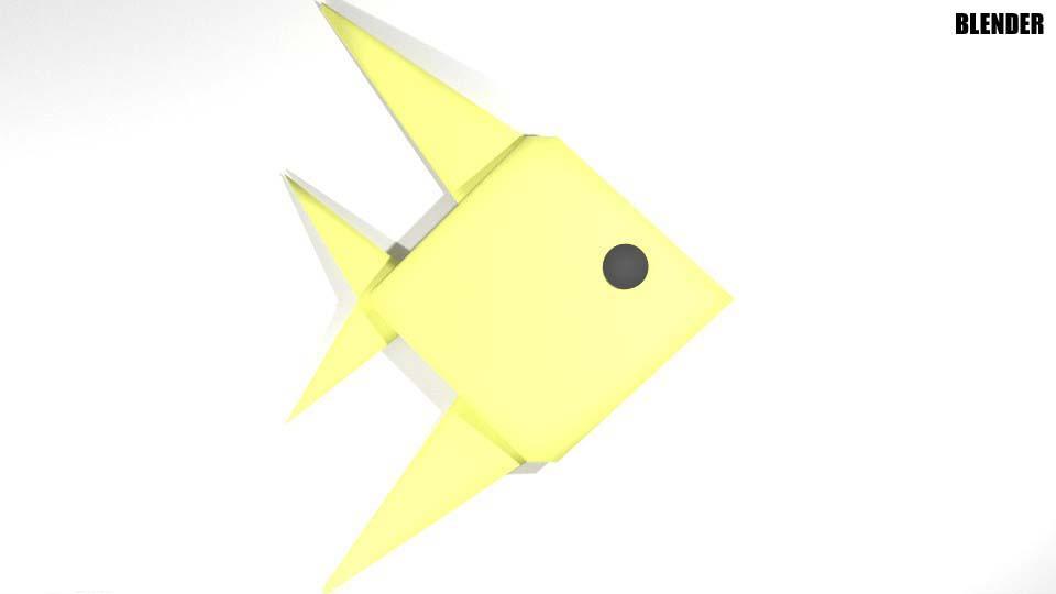 Fish Origami 3d Model