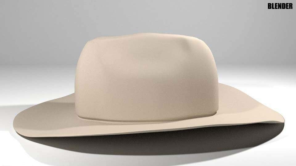 02c882b779e51 Hat - Cowboy 3D Model