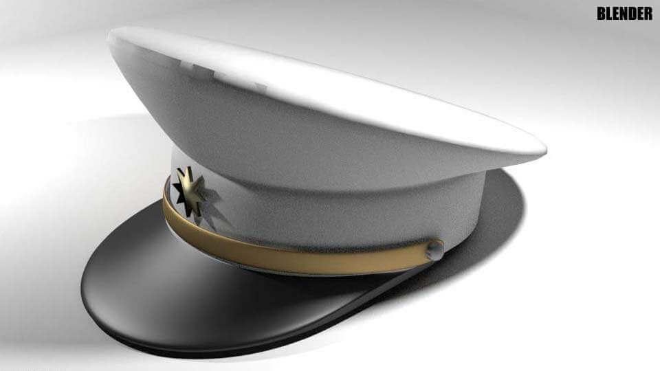 Mens Peaked Hat 3D Model 21b55e68a2f3