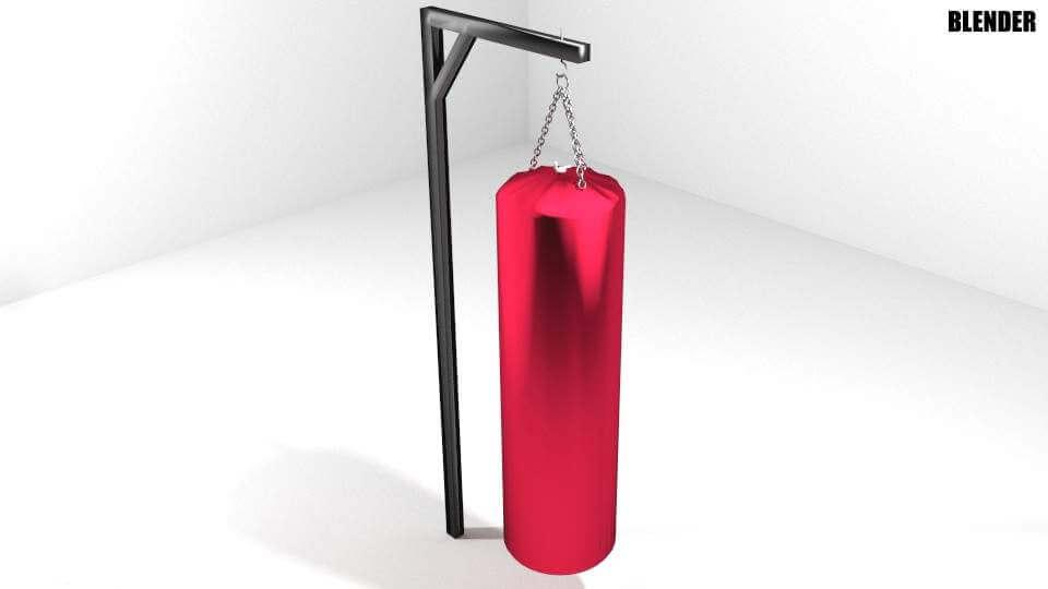 Martial-Arts Punching Bag 3D Model