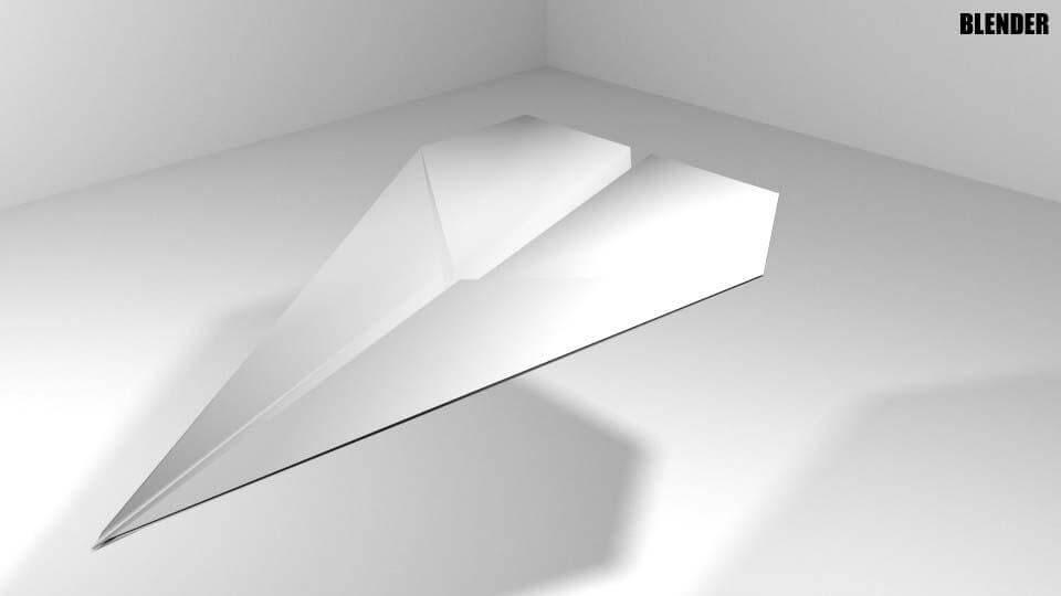 Plane Origami 3D Model