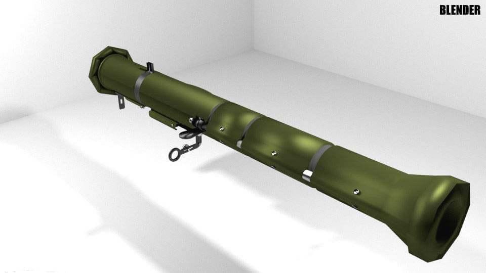 AT-4 Shoulder-fired Rocket Launcher 3D Model