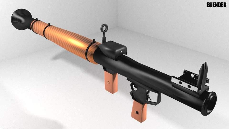 RPG Shoulder-fired Rocket Launcher 3D Model