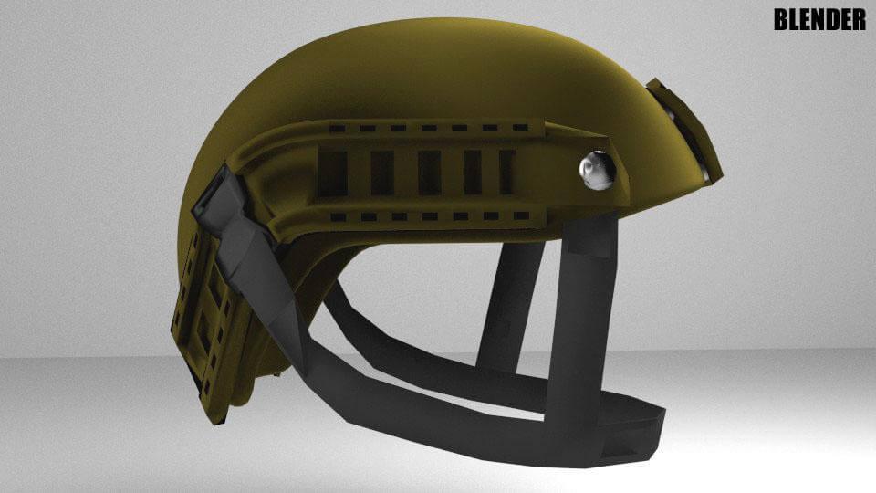 Tactical Helmet 3D Model