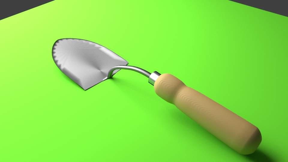 Garden Hand Shovel 3D Model