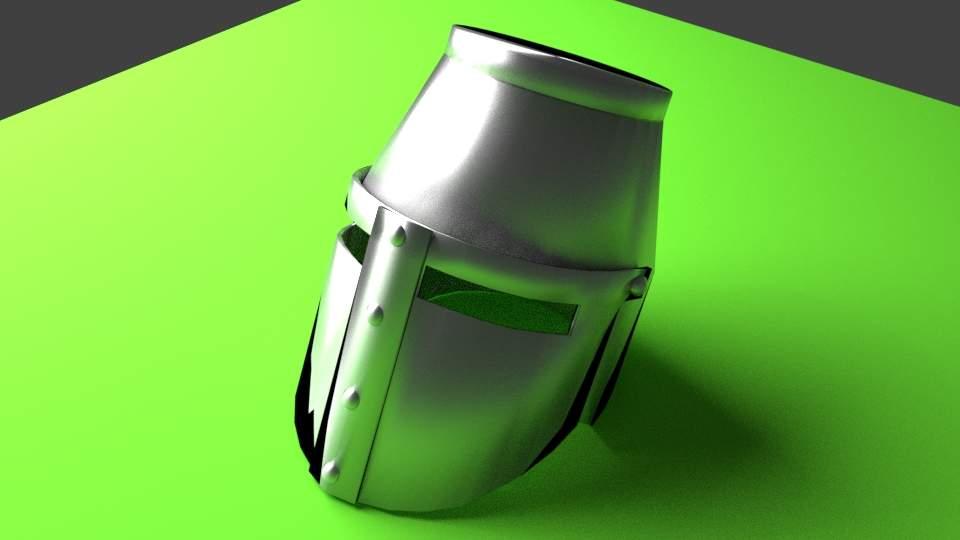 Medieval Helmet - Great Helm 3D Model