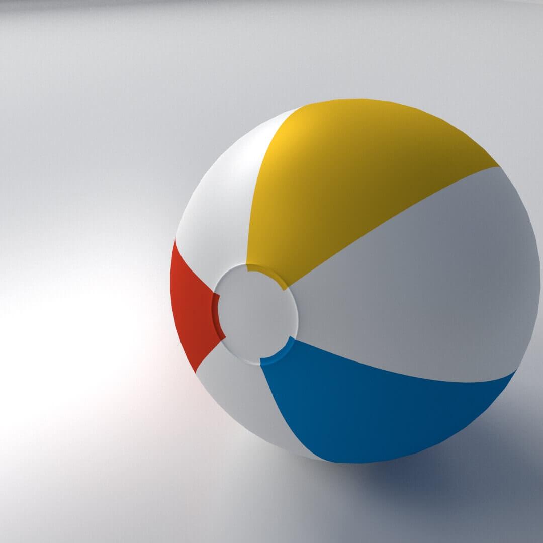 beach ball image - HD1080×1080
