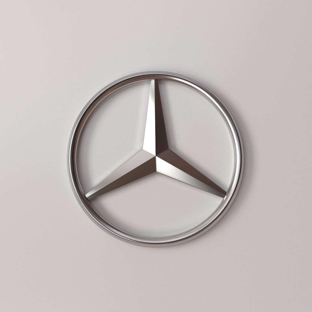 Mercedes Benz Symbol >> Mercedes Benz Logo 3d Model