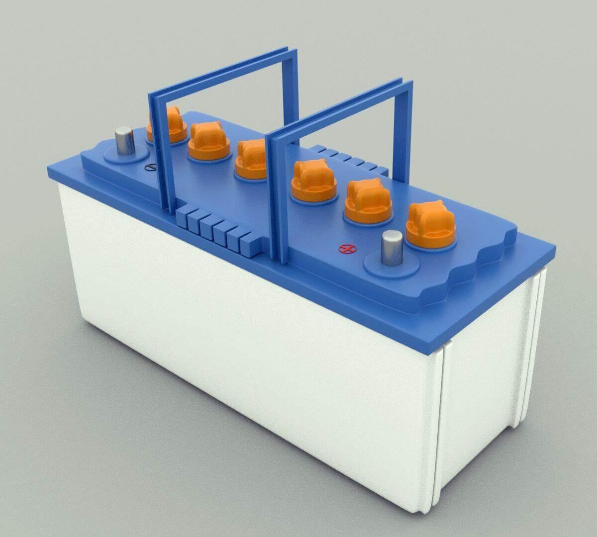 Lead Acid Battery >> Lead Acid Battery 3d Model