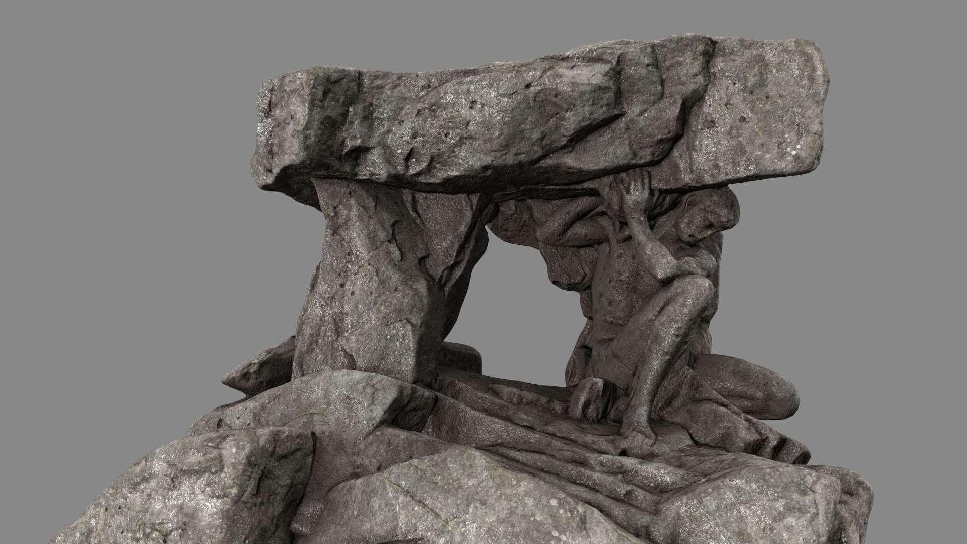 Stone Gateway 3D Model