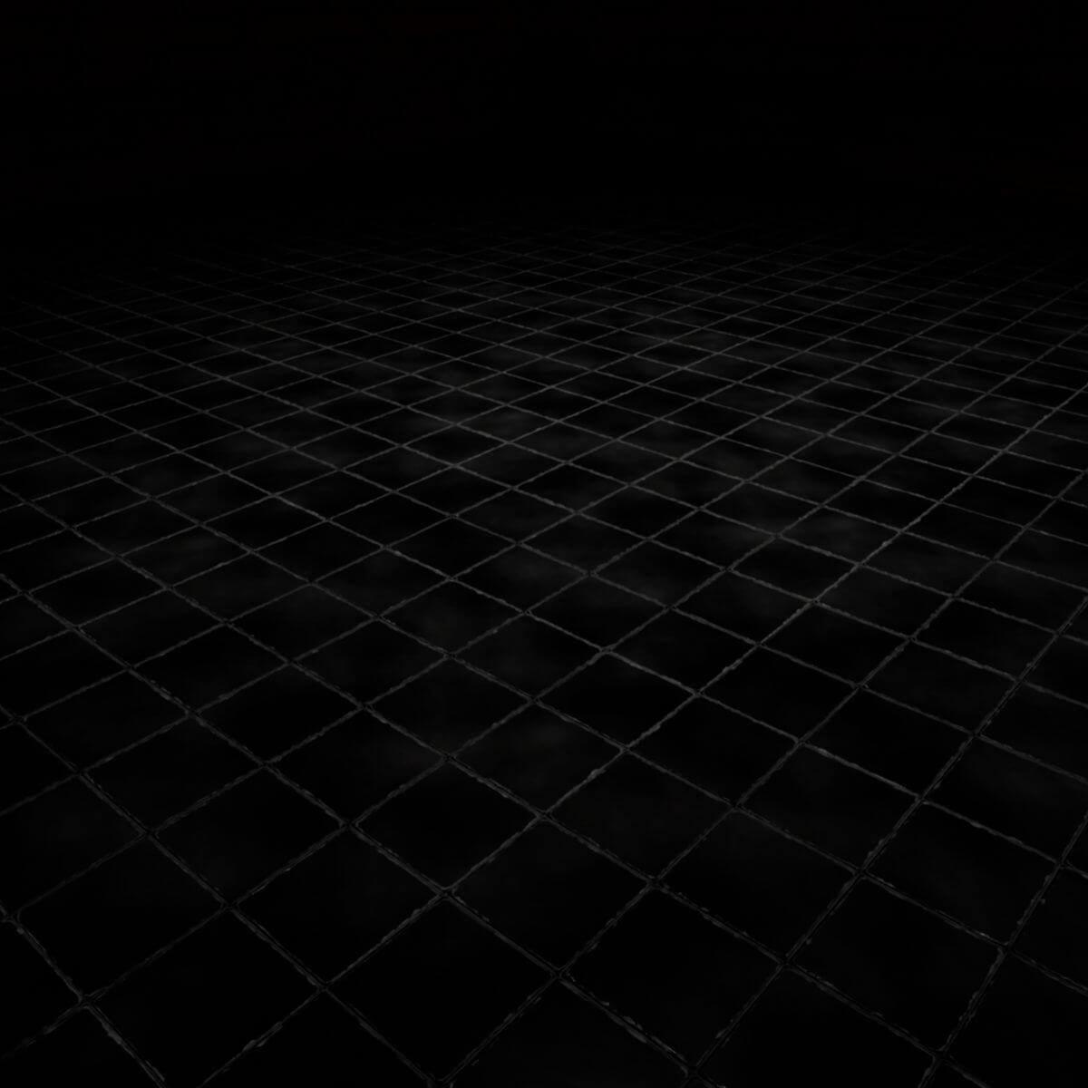 Stylized Black Floor Tiles Seamless Texture