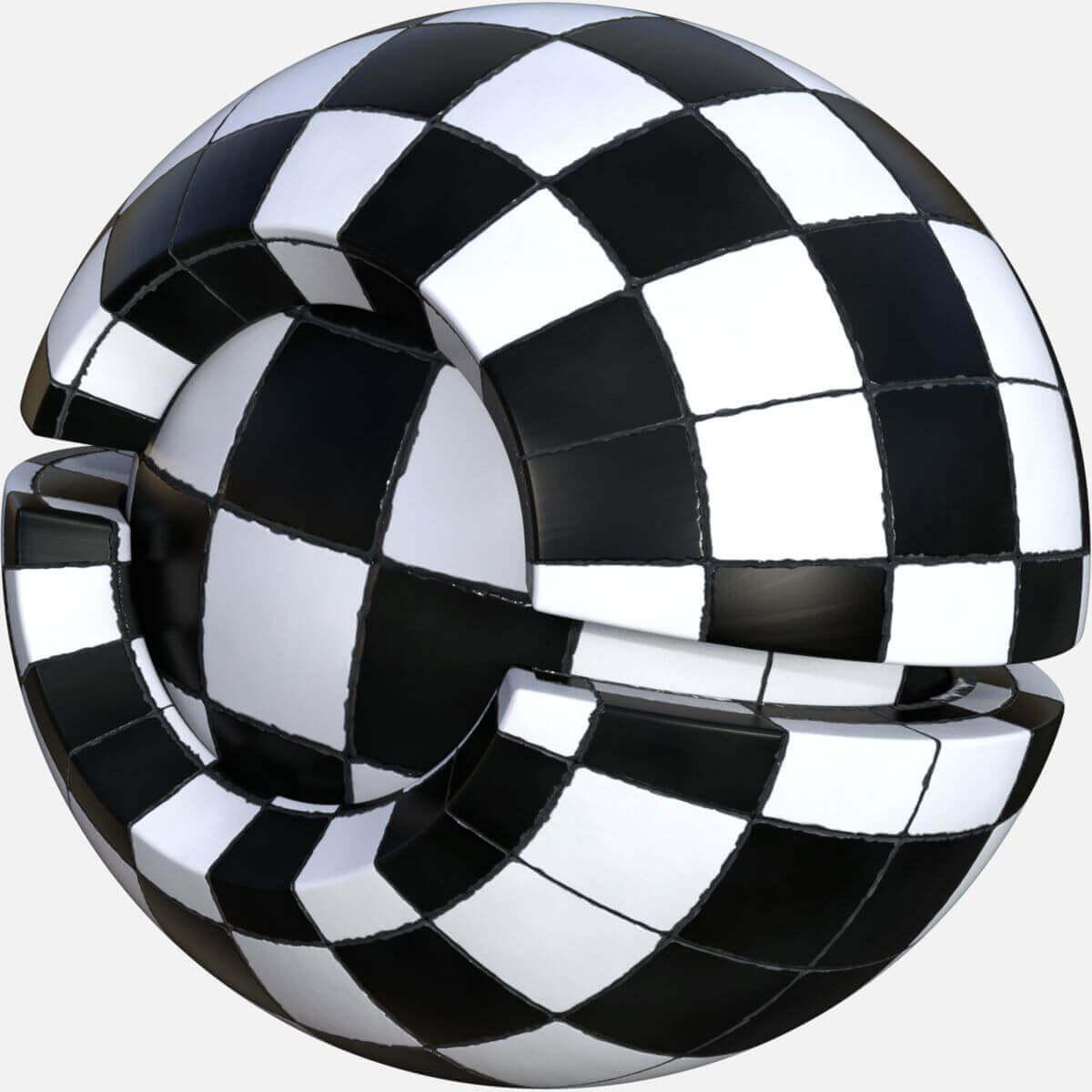 Stylized Checkered Floor Tiles Seamless Texture