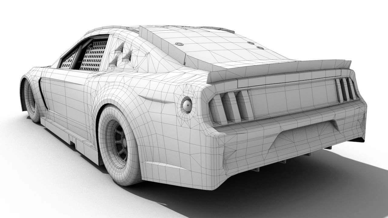 Nascar Mustang 3D Model