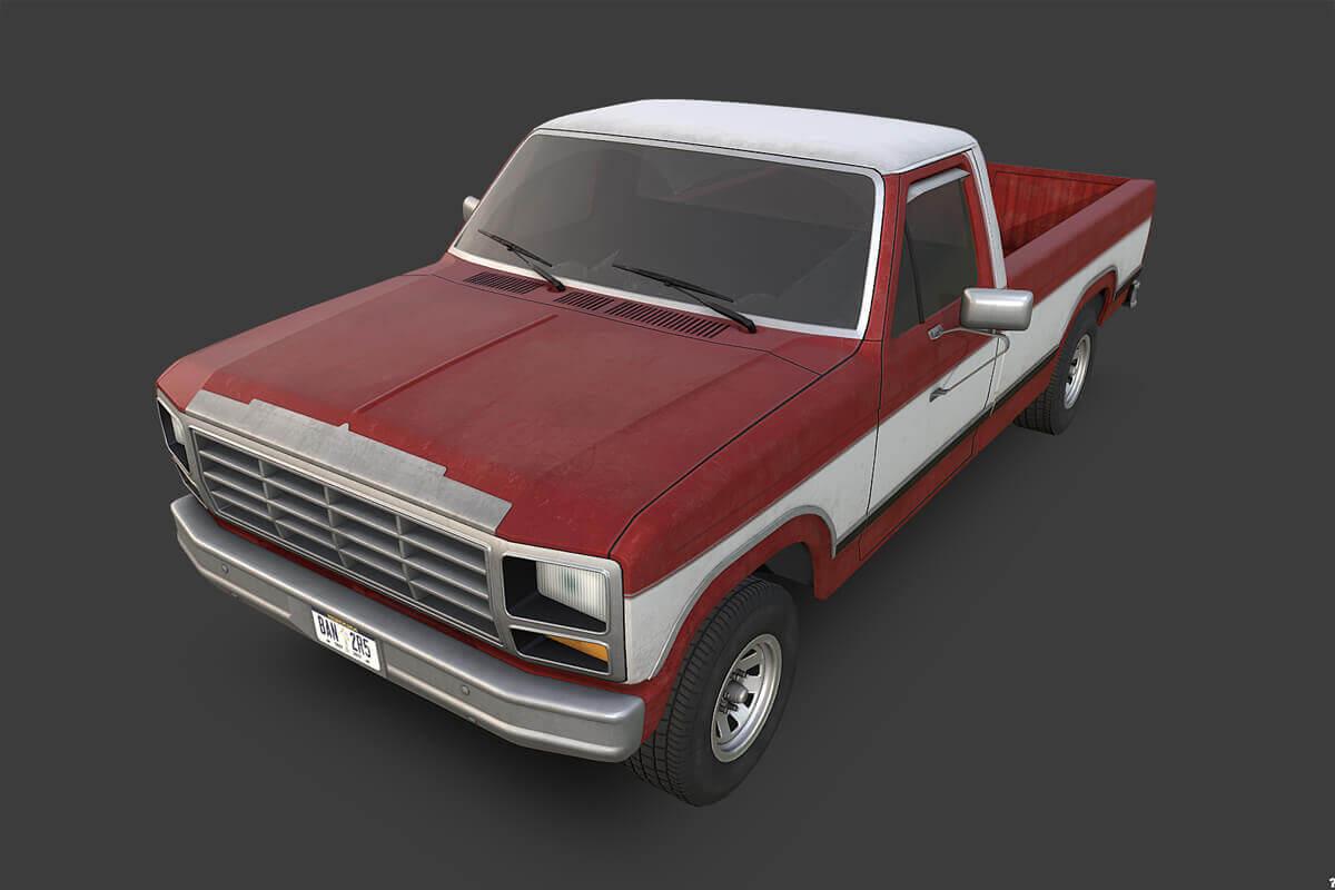 1980 Ford F 150 3d Model