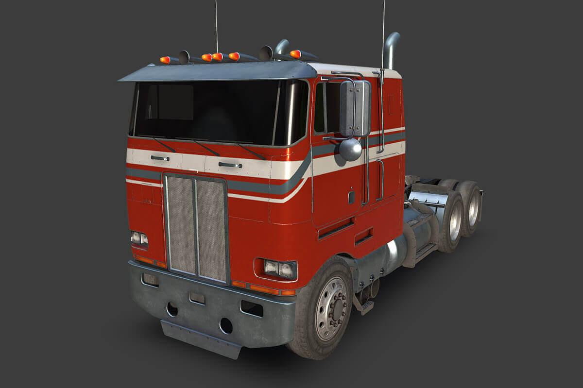 1985 Peterbilt 362 Truck 3D Model