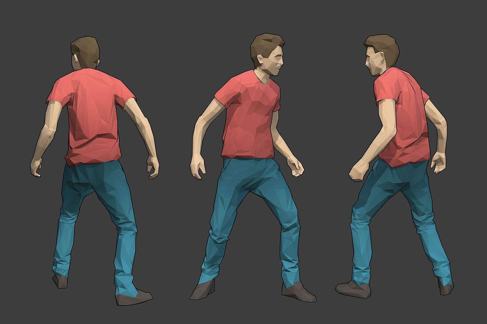 Male Character - Tim 3D Model