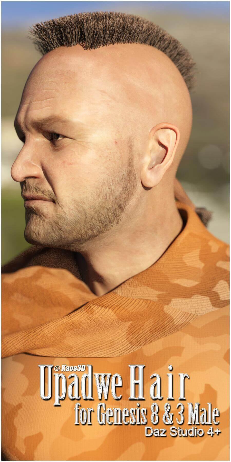 Upadwe Hair for Genesis 8 Male
