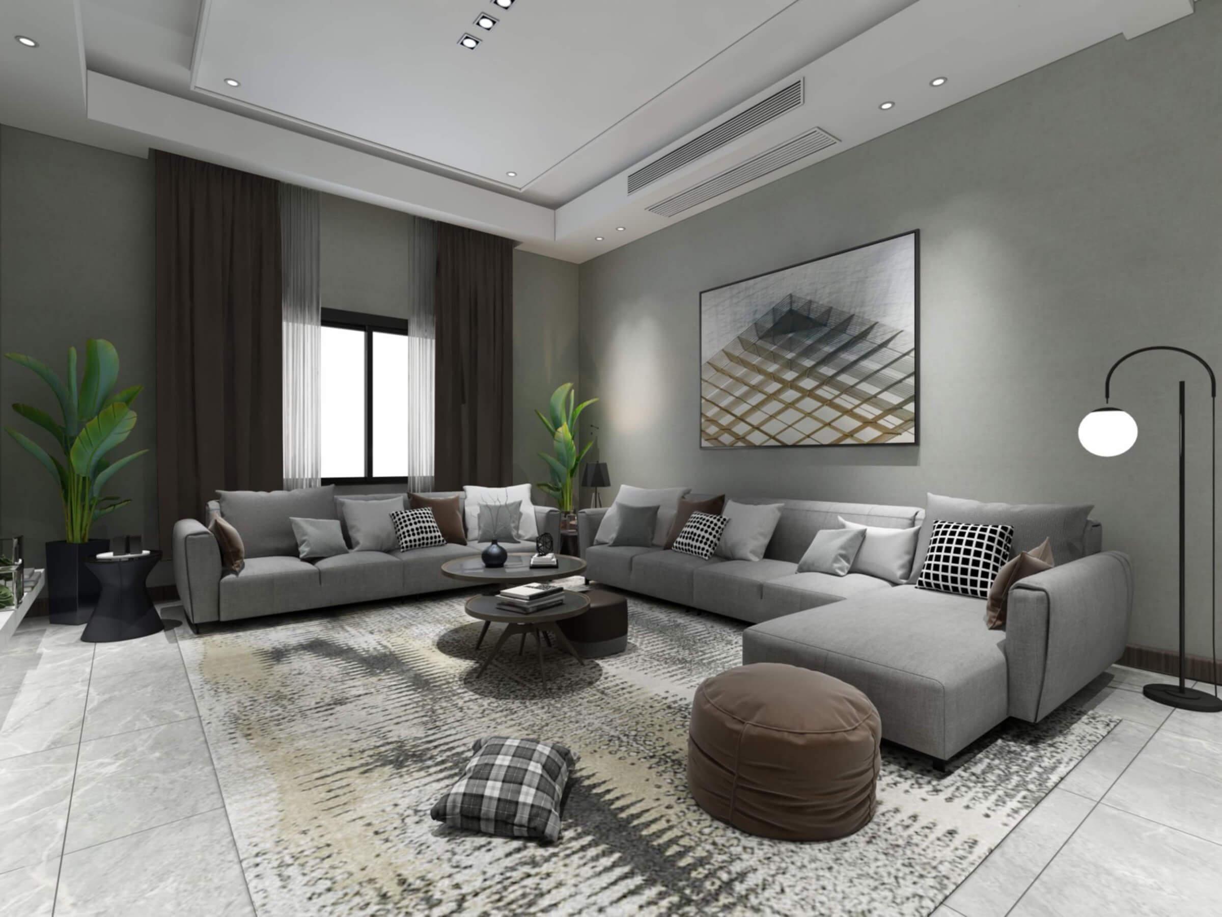 Modern Living Room 1 3D Model