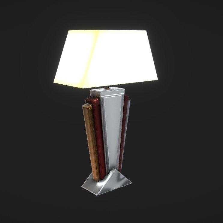 Art Deco Table Lamp 3d Model