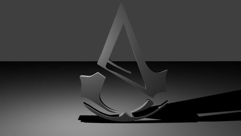 Assassins Creed Unity Logo 3d Model