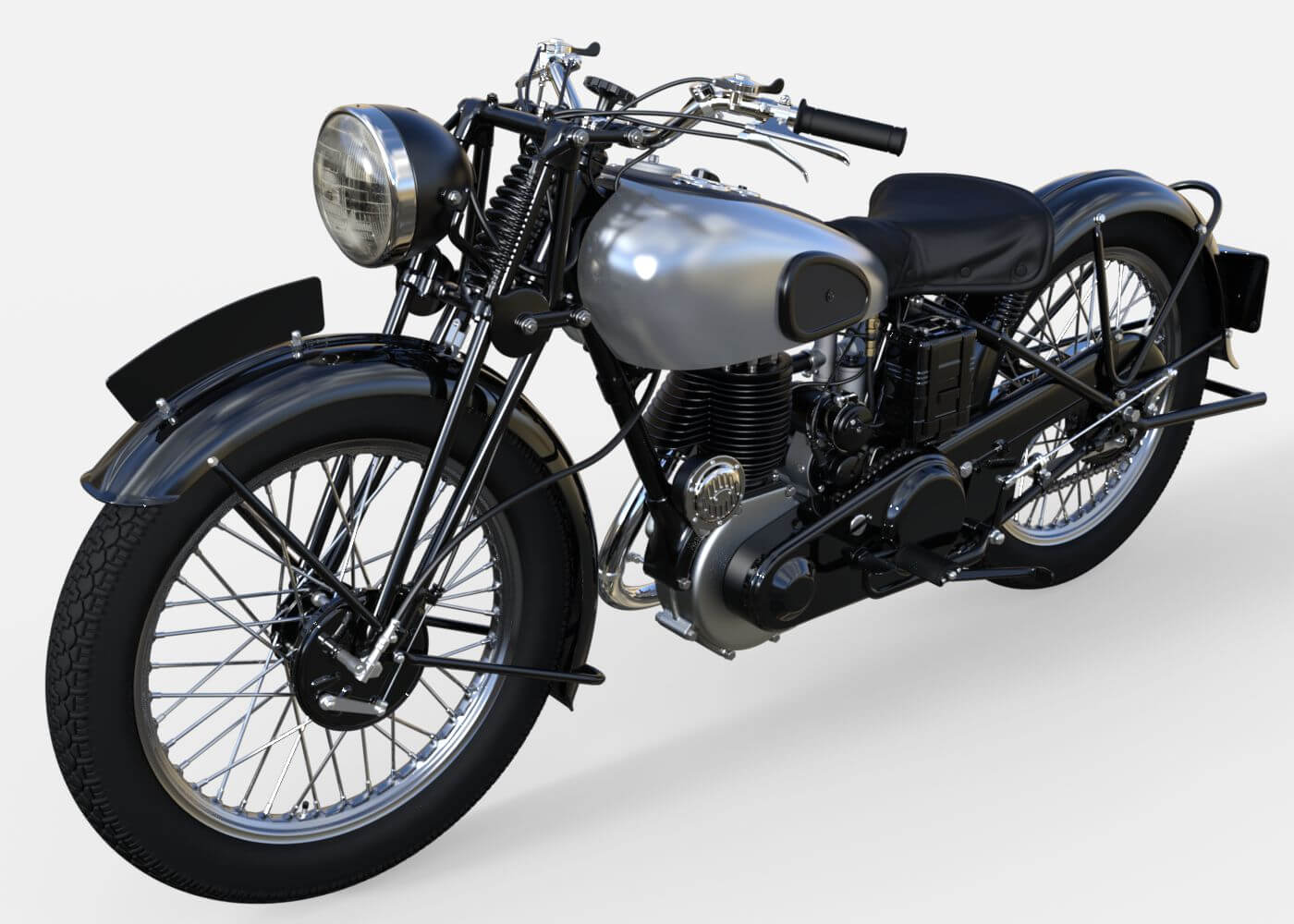 Norton 16H Motorcycle 3D Model