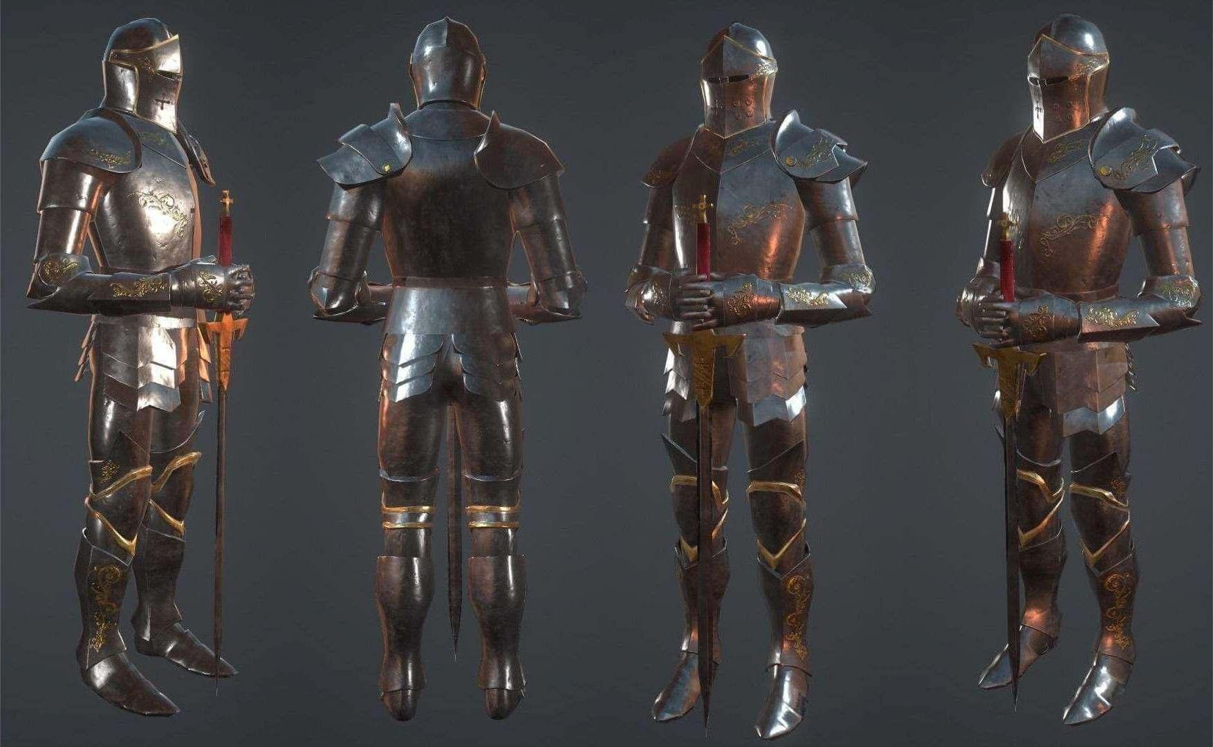 Knights Armor 3D Model