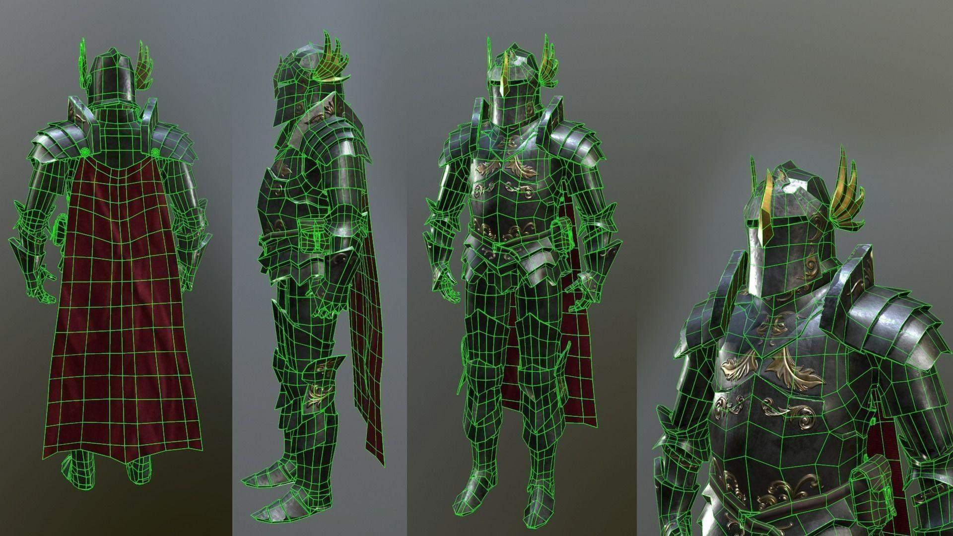 Paladin armor set 3d model paladin armor set publicscrutiny Gallery