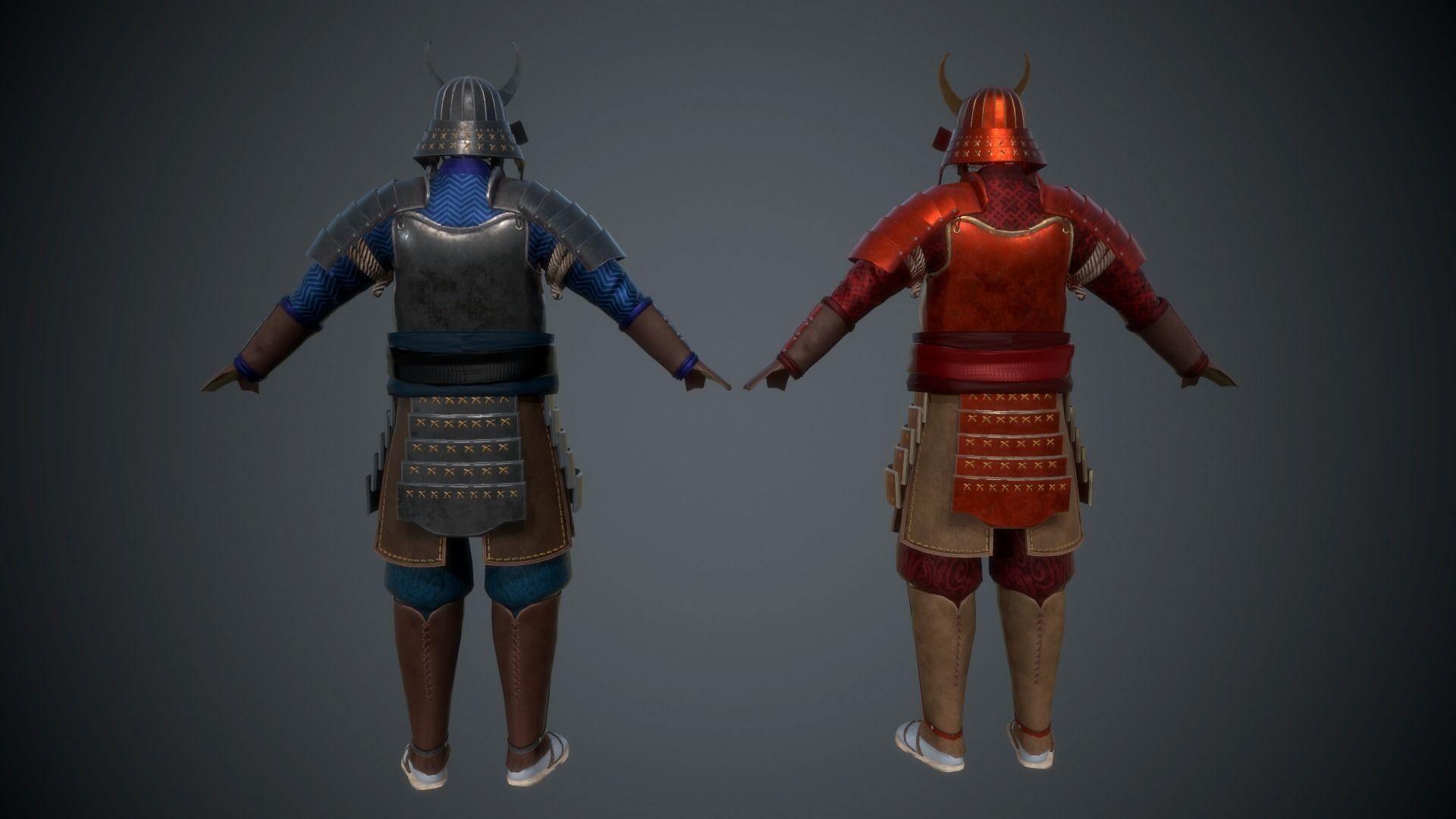 samurai armor 3d model