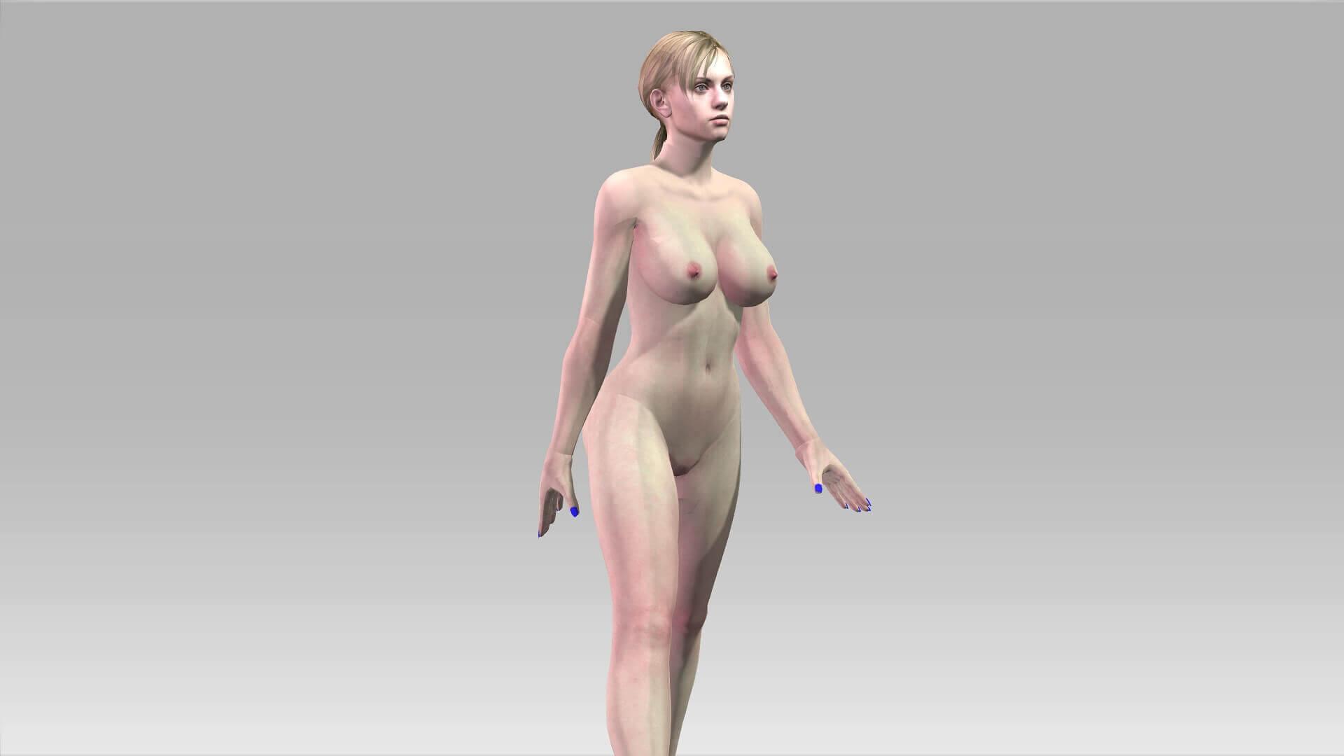3d model nøgen