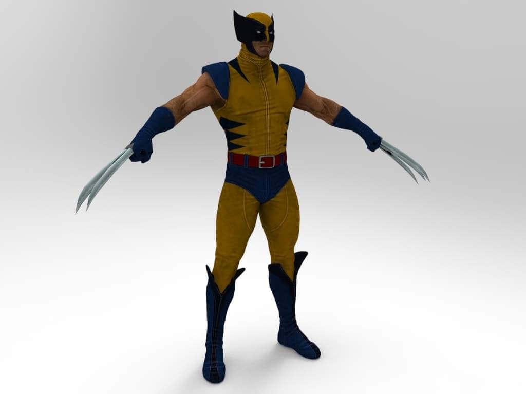 Wolverine Comic Version 3d Model