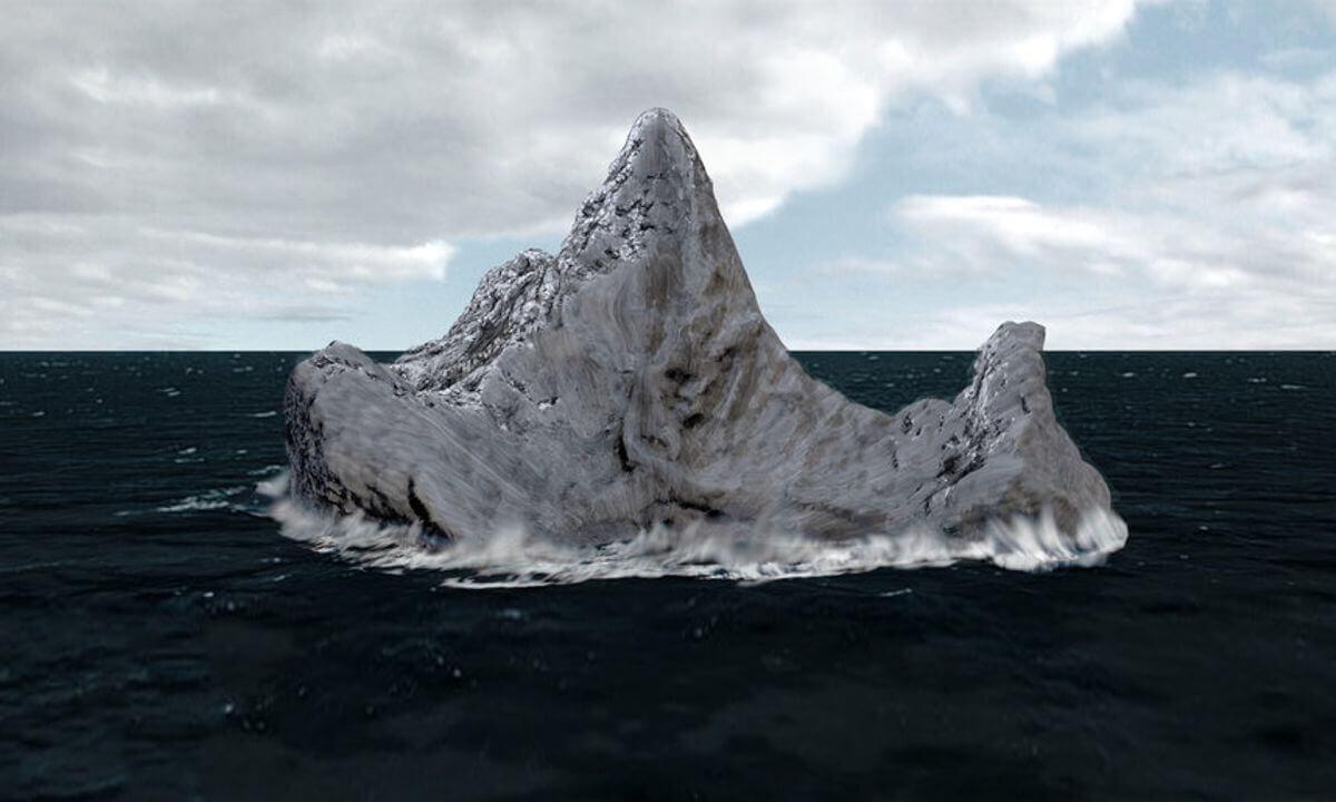 фото айсберга с которым столкнулся титаник уже было