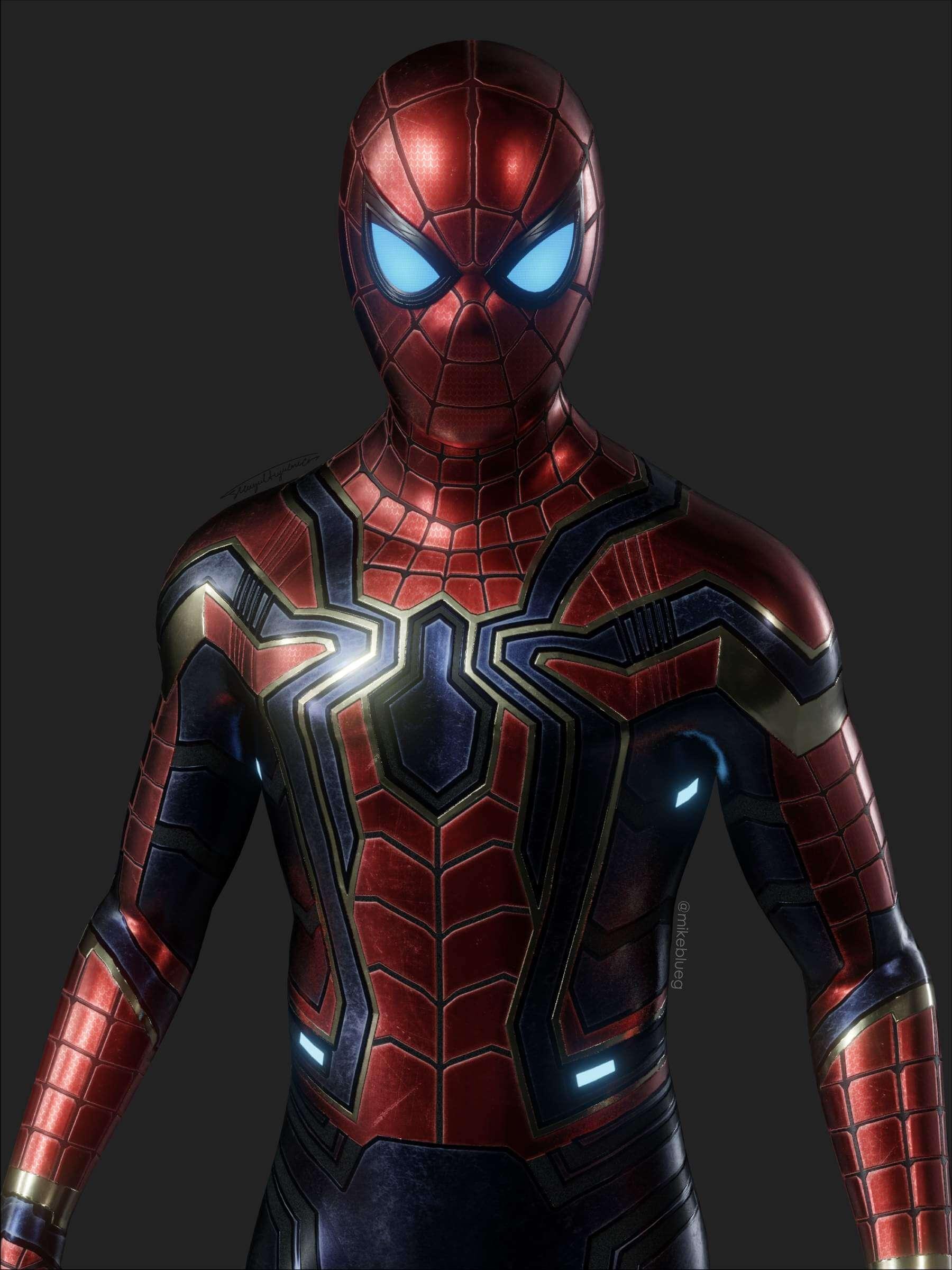 Iron Spider Avengers Suit 3D Model