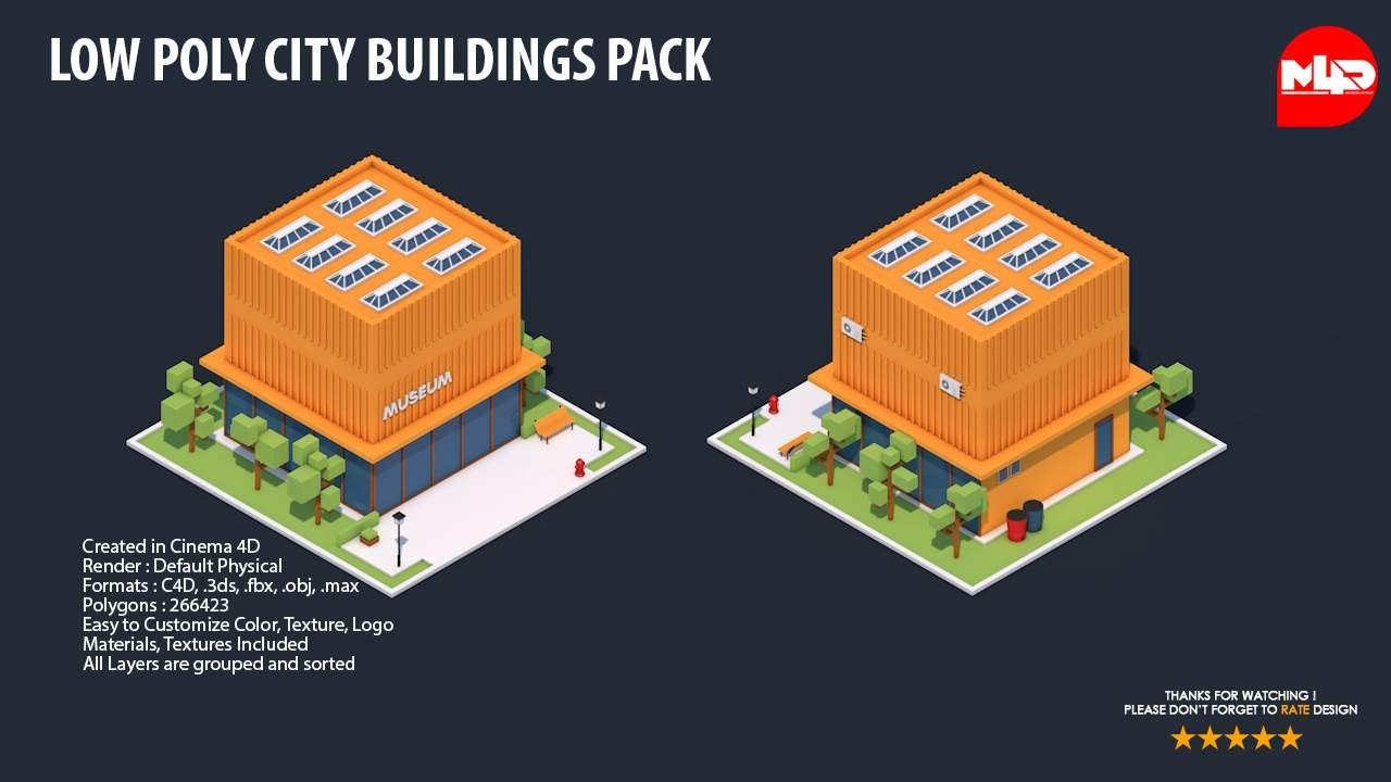 City Buildings Pack 3D Model