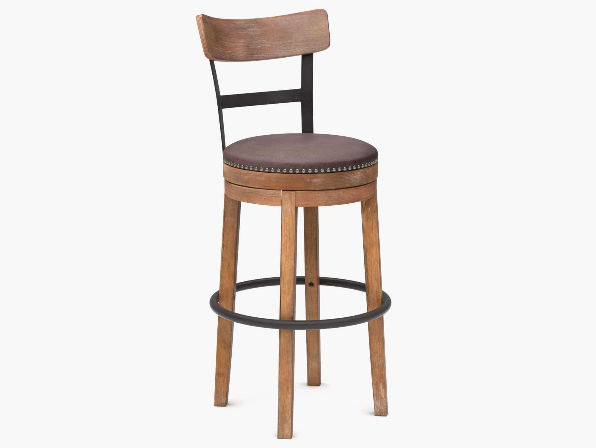 Incredible Wooden Pub Chair 3D Model Machost Co Dining Chair Design Ideas Machostcouk