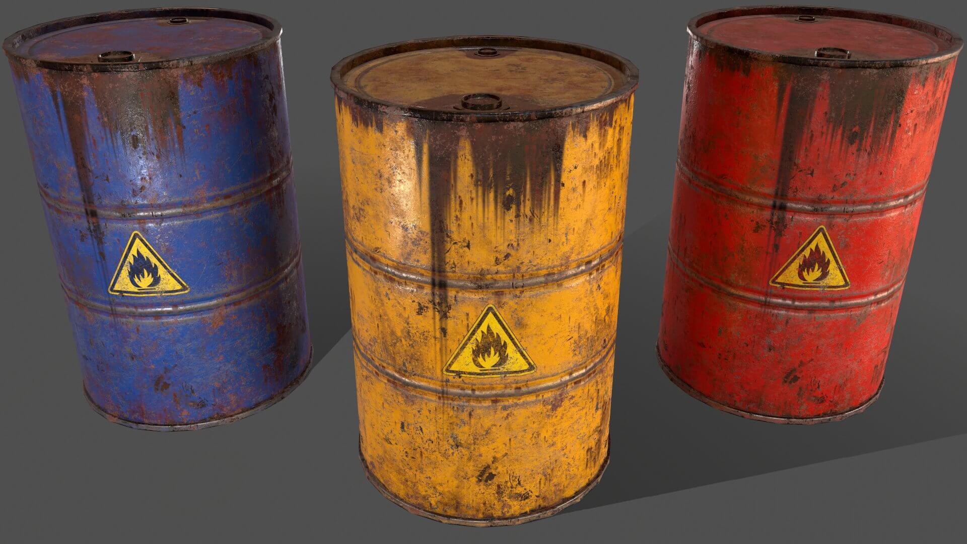 Model Scene OO Oil Drums