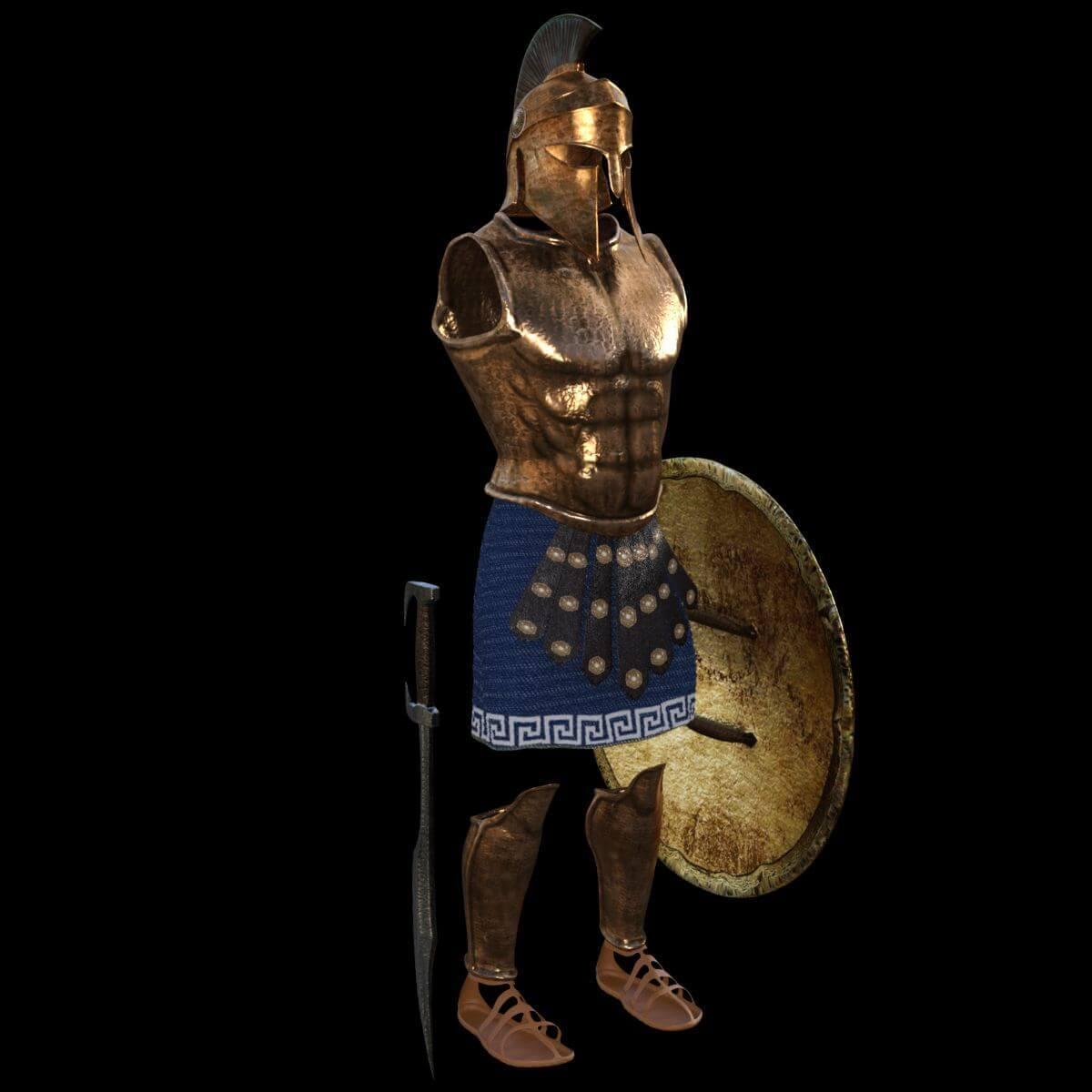 Spartan Armor Set 3D Model
