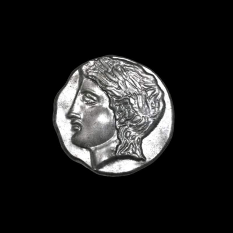 Tetradrachm Ancient Greek Coin Print Ready 3D Model